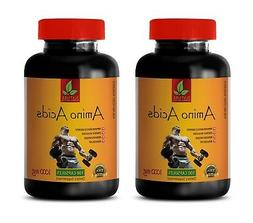 BCAA Capsules - AMINO ACIDS 1000mg - pre workout - 2 Bottles