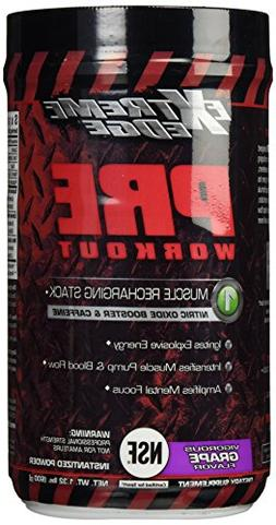 BlueBonnet Extreme Edge Pre Workout Powder, Vigorous Grape,