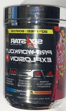 Six Star Pre-Workout Explosion Energy Focus Intensity - 60 S