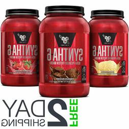 BSN Syntha-6 Whey Protein Powder 2.91 lbs  - All Flavors Fre